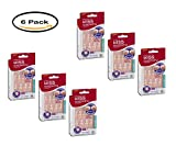 PACK OF 6 - Kiss Everlasting French Nails Real Short Length Salon Square Shape Pearl French Tip - 28 CT