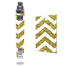 Innokin iTaste VV V3.0 Vape E-Cig Mod Box Vinyl DECAL STICKER Skin Wrap / Gold Chevron (not real glitter) Pattern Design Print Image