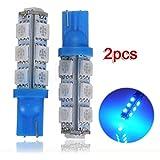 2x T10 194 168 501 W5W 5050 SMD 13 LED Bleu Ampoule Lampe VEILLEUSE 12V Voiture lumiere