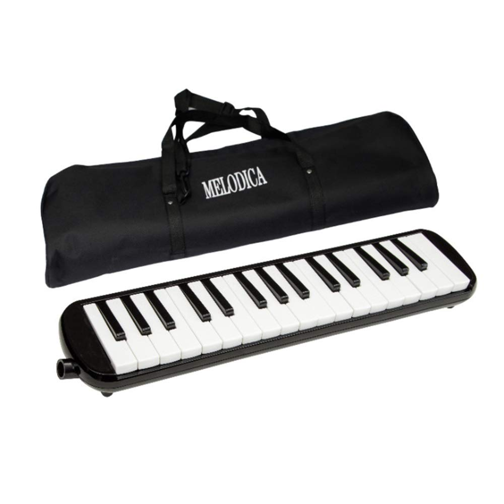 Piano-Style Melodica 32 Keys Portable Pianica Melodica Kids Musical Instrument Gift Toys for Music Lovers Beginners with Mouthpieces Tube Sets Carrying Bag Black Pink Blue Music Lovers