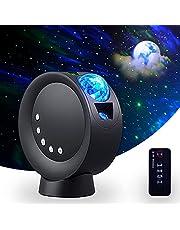 RTjoy Star Projector Batterij Versie, Galaxy Sky Projector met afstandsbediening, Nachtlampje Projector voor volwassenen, kinderkamer, USB of 3H 2000mAh Batterij Werkt (zwart)