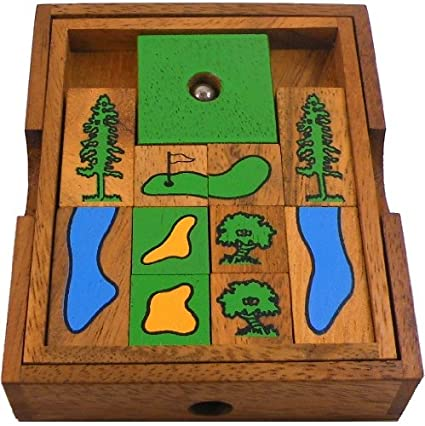 Golf Field Large Wooden Puzzle Brain Teaser
