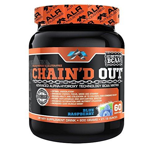 ALR Industries Chain'd Out, Vegan Friendly & Gluten Free Advanced Technology BCAA Matrix, Blue Raspberry, 600 Gram/ 60 serving