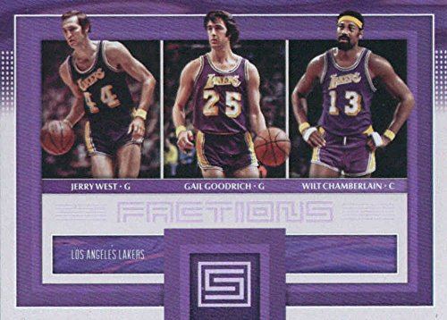 2017-18 Panini Status Factions #29 Gail Goodrich/Jerry West/Wilt Chamberlain Los Angeles Lakers Basketball Card