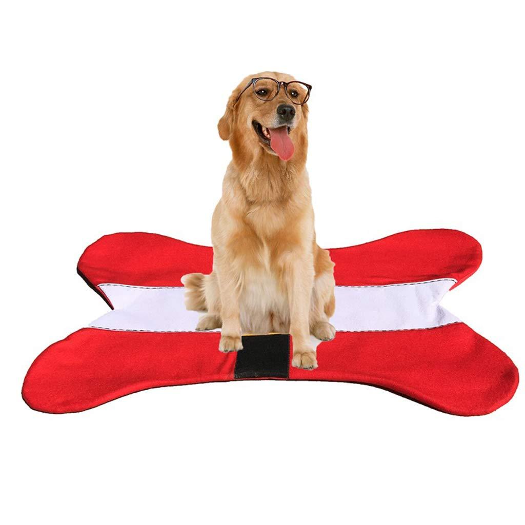 QSEVEN Alfombra para Perros con Forma de Hueso, poliéster y Esponja Super Suave Decoración navideña para Gatos y Perros: Amazon.es: Productos para mascotas