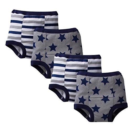 Gerber Little Boys' 4 Pack Training Pant, Stars/Stripes, 3T