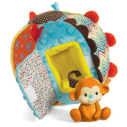 Infantino Go gaga Collection Patchwork Peek a Boo Ball Toy N