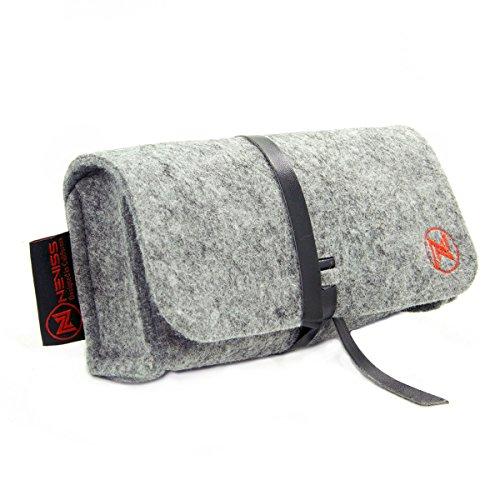 EnvyDeal Grey Felt On-The-Go Storage Case for Harman Kardon Esquire Mini, Mini Coach Limited Edition Portable -