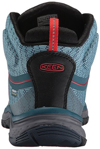 Keen Women's Terradora Waterproof Mid High Rise Hiking Shoes BLUE CORAL/FIERY RED xGBUdn