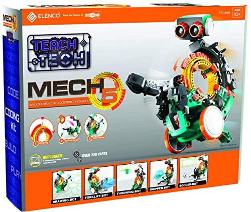 51qfhv4%2BK1L - Elenco Teach Tech Mech-5   Programmable Mechanical Robot Coding Kit   STEM Educational Toys for Kids 10+