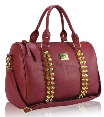 Design On Nude Red Sale With High 1 In Leather Handbag Quality Strap Women Faux Sale Ladies Bags Studded Shoulder RfYXwqUa
