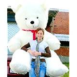 Big Plush American Made 8 Foot Giant Teddy Bear 96 Inch Soft White Teddybear Made in the USA