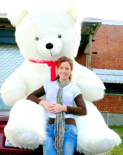 8' Bear (American Made 8 Foot Teddy Bear Huge Soft 96 Inches Head to Toe, Ships in Plain Brown Box for a BIG Surprise)