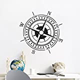 Nautical Compass Wall Decal Compass Rose Vinyl Sticker Ocean Sea Navigation Ship Home Interior Design Art Murals Bedroom Decor NS886