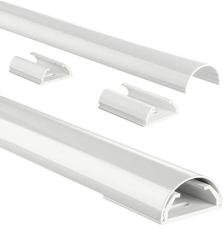 Hama Stabiler Kabelkanal Aus Aluminium Weiß 1 1 Meter Länge Für 5 Kabel Robuste Halbrunde Metall Kabelabdeckung Baumarkt