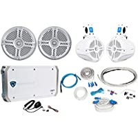 2) Rockville RMSTS65S 6.5 800w Marine Boat Speakers+2) Wakeboards+Amp+Wire Kit