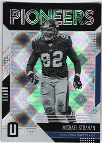 (2018 Unparalleled Pioneers Football #2 Michael Strahan New York Giants Official NFL Trading Card From Panini)
