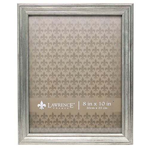 Lawrence Frames Sutter Burnished Picture Frame, 8 by 10-Inch, Silver