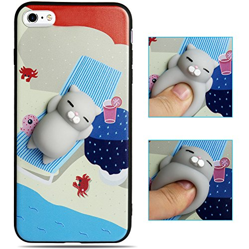 7bc988cfc9 3D Squishy Bear Phone Case,oneisall Soft Silicone Cute Protective Back  Phone cover for iPhone