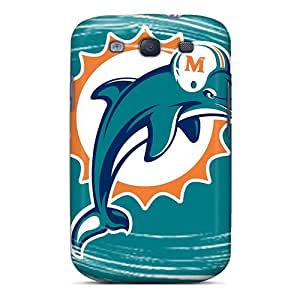 Scratch Protection Hard Phone Case For Samsung Galaxy S3 With Unique Design High Resolution Miami Dolphins Pattern AnnaDubois