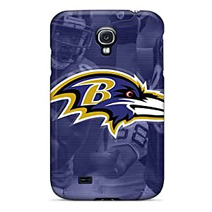 Galaxy S4 Baltimore Ravens Print High Quality Tpu Gel Frame Case Cover