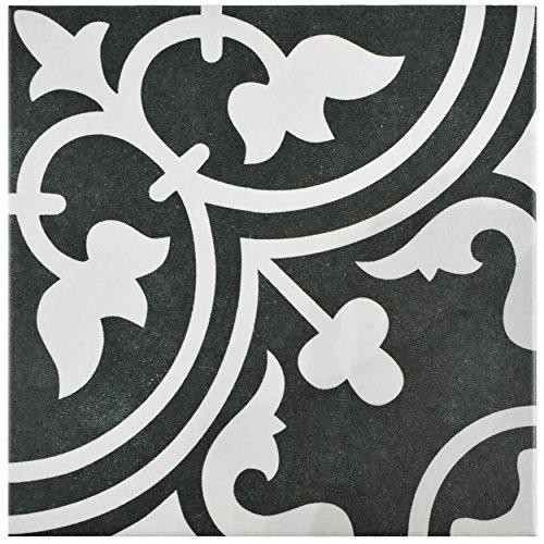 SomerTile FCD10ARB Burlesque Porcelain Floor and Wall Tile, 9.75