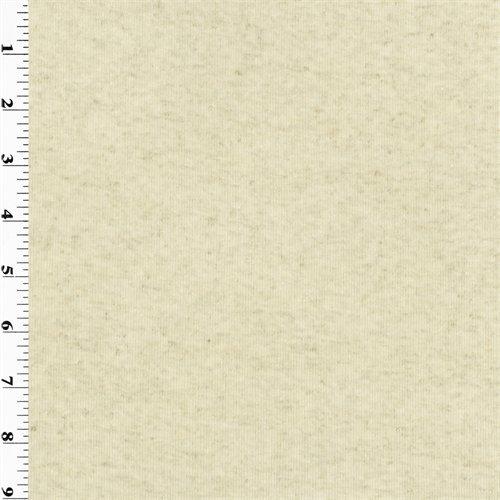Rib Knit Material (Cotton Rib Knit - Natural, Fabric by The Yard)