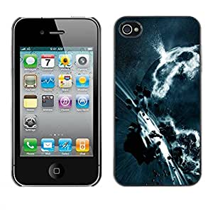 PC/Aluminum Funda Carcasa protectora para Apple Iphone 4 / 4S Space Planet Galaxy Stars 3 / JUSTGO PHONE PROTECTOR