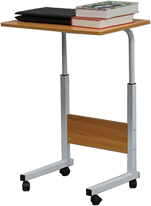 Home Living Office Desk Overbed Table Wheels Height Adjustable Tray Side Table