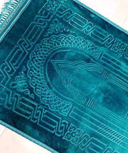 Jaey Namaz suave y acolchada tama/ño grande Ver im/ágenes Musallah KKP  Alfombrilla antideslizante para oraci/ón azul