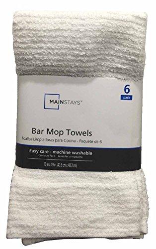 Bar Mop Towels 6-Pack White 6 Bar Mop