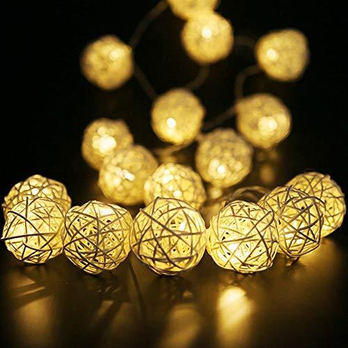 Outdoor Rattan Ball Lights in US - 1