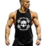 Best Gym Tanks - GZXISI Mens Skull Print Stringer Bodybuilding Gym Tank Review