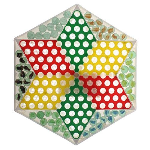 Perfk 大理石 チェスピース 中国チェッカー ダイヤモンドゲーム 子供 知能開発 玩具