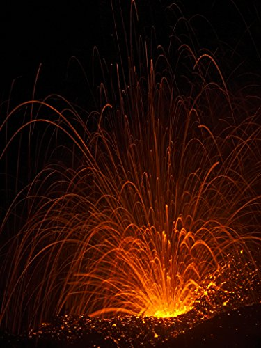'Cinder Cone Fireworks' Kilauea East Rift Zone 2018 lava Eruption, Hawaii Island - large unframed original print direct from Big Island photographer Harry Durgin by Tanglewood Gallery