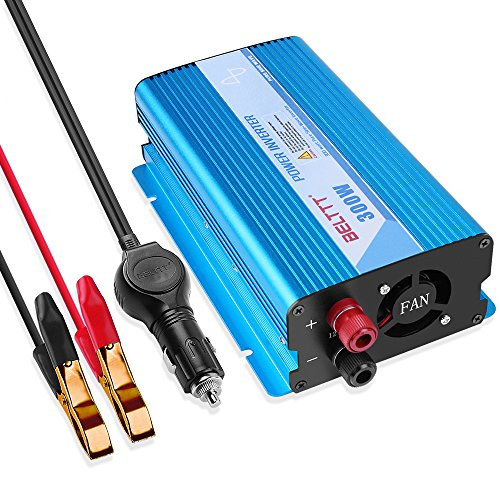 BELTTT 300W Pure Sine Wave Inverter DC 12V to AC 110V 60HZ with USB Port