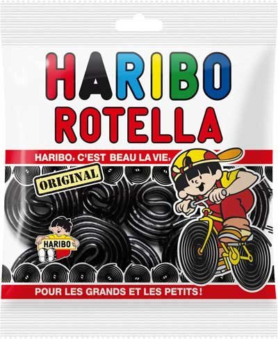 Haribo Licorice Rotella Candies 300 grams from France