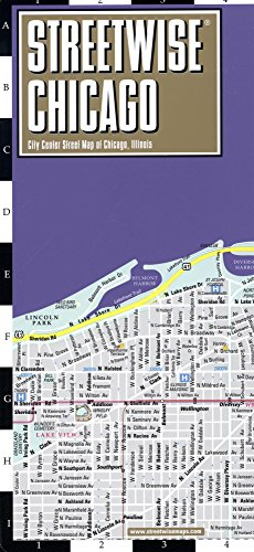 Streetwise Chicago Map - Laminated City Center Street Map of Chicago, Illinois (Michelin Streetwise Maps) - Chicago Illinois Map