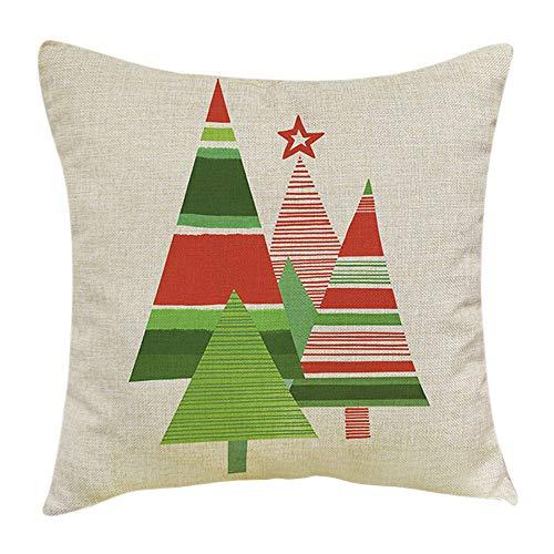 Christmas Pillow Covers, HunYUN Christmas Tree Printing Pillows