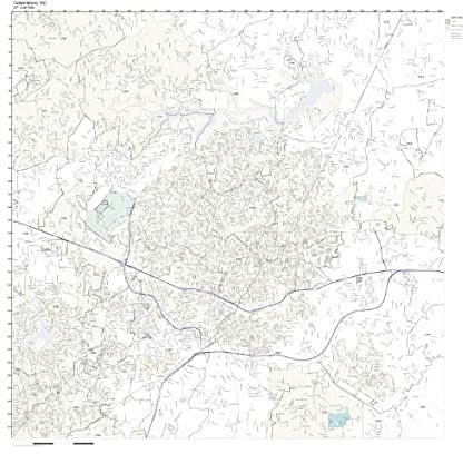 Amazon Com Zip Code Wall Map Of Greensboro Nc Zip Code Map Not