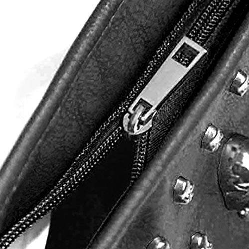 Handbag Leather Handbag PU Black Skull Lady Handbag PU Rivet vqp6Txw65