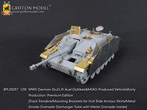 (Griffon Model 1/35 WWII German StuG.III Ausf.G (Alkett&MIAG Produced Vehicle) Early Production Premium Version BPL35037)