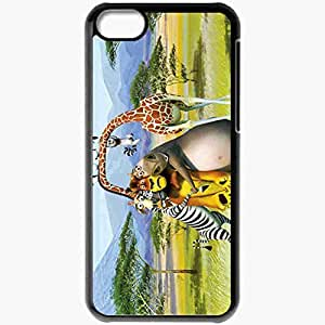 diy phone casePersonalized ipod touch 4 Cell phone Case/Cover Skin Cartoon Madagascar Zebra Lion Giraffe Hippopotamus Blackdiy phone case