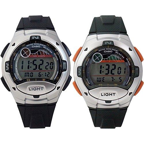 Casio W753 Digital Sports Watch w/ Moon & Tide Data