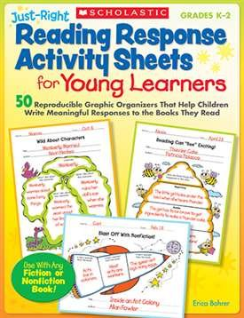 JUST RIGHT READING RESPONSE ACTIVITY SHEETS FOR YOUNG LEARNERS - (Reading Activity Sheets)