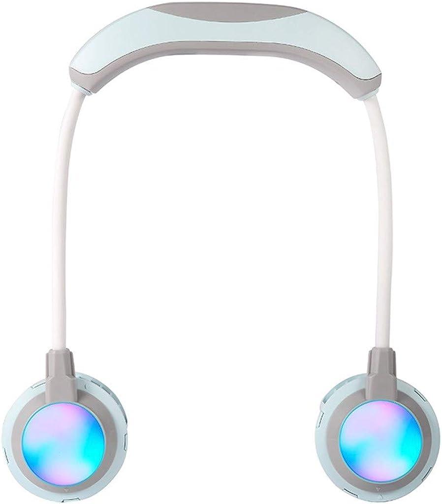 SU&YU Lazy Hanging Neck Cooling Fans Portable USB LED Adjustable Angle Fan Cooler