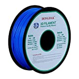 3D Printer - HONGDAK 3D Printer Filament, PLA 3D Printing Filament 1.75 mm Dimensional Accuracy +/- 0.03 mm, 1KG Spool (2.2LBS), PLA-1000g-1.75mm, Blue