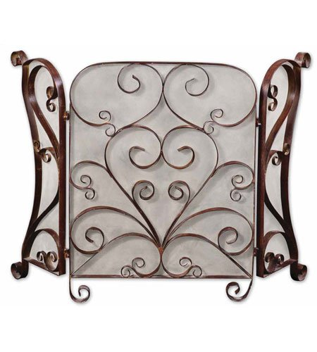 Uttermost 3 Panel - Uttermost 3 Panel Daymeion Fireplace Screen