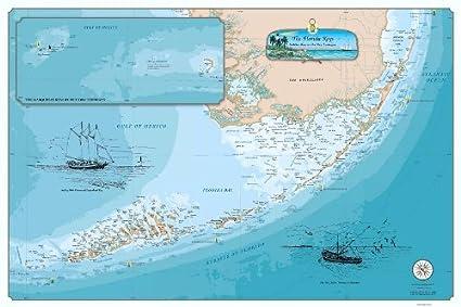 Detailed Map Of Florida Keys.Sealake Products Original Florida Keys Chart Paper