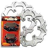 Sumo - Yamaha Front + Rear Brake Disc Rotor + Pads for YZ125 (98-02) YZ250 (98-02) YZ400F (99) YZ426F (00-02) WR250 F (4T) (01-02) WR400 F (99-01) WR 426 F (01-02) Motorcycle